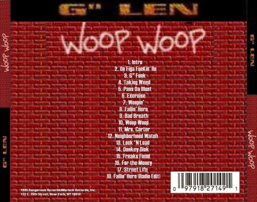G Len - Woop Woop (Back)