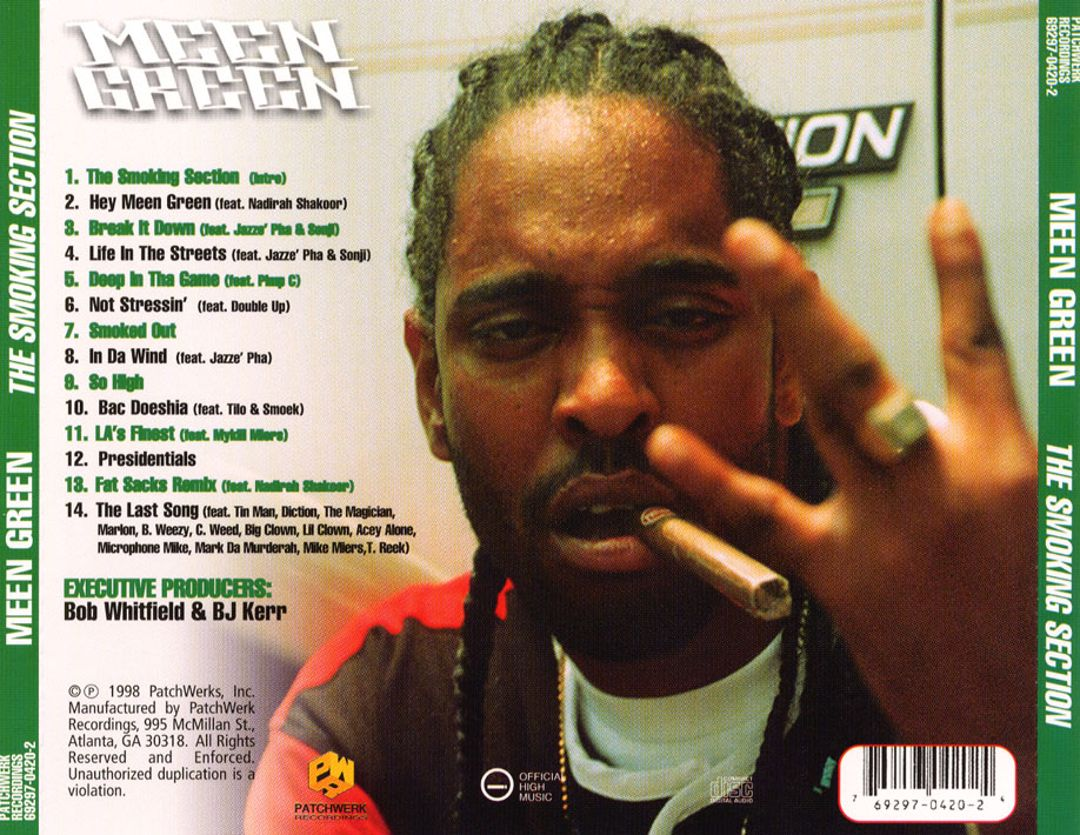 Meen Green - The Smoking Section (Back)