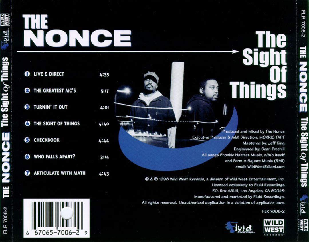 The Nonce - The Sight Of Things (Back)