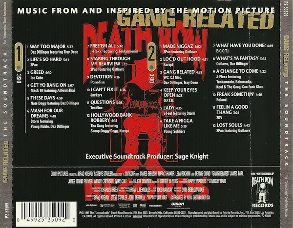 Various - Gang Related - The Soundtrack (Back)